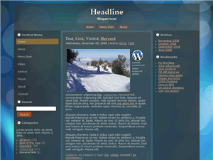 Blue Circles WordPress Theme