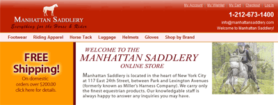 Saddlery Shop in NYC