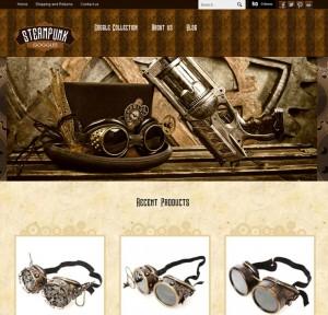 SteampunkGoggles.com - Niche Ecommerce