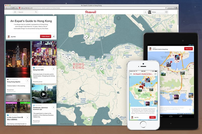 Pinterest Introduces Place Pins