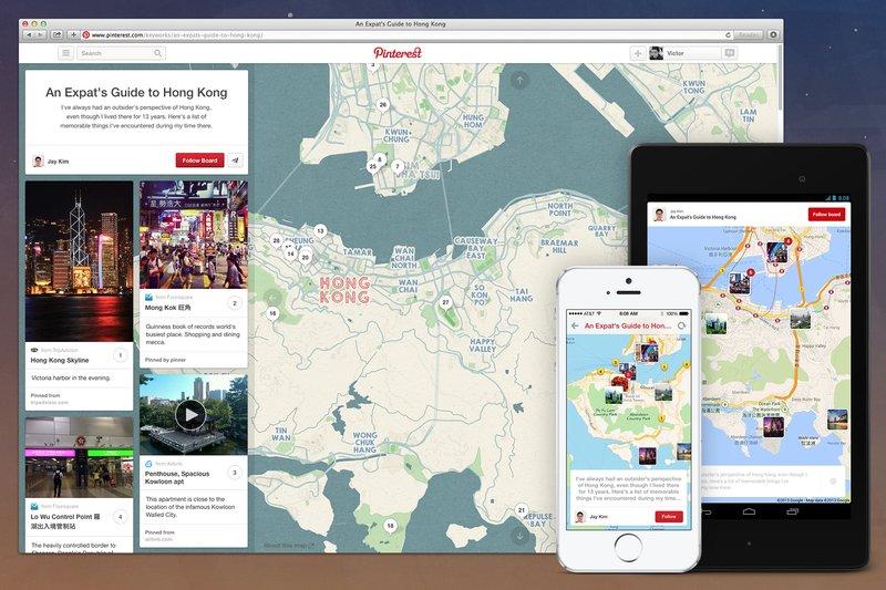 Pinterest Introduces Place Pins