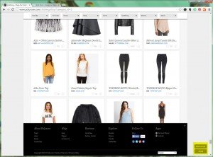Polyvore.com does a great job of floating an 'about' button that expands the footer when clicked.