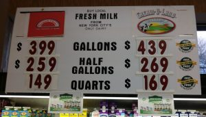 Is milk better at $4.39 per gallon or $3.99?
